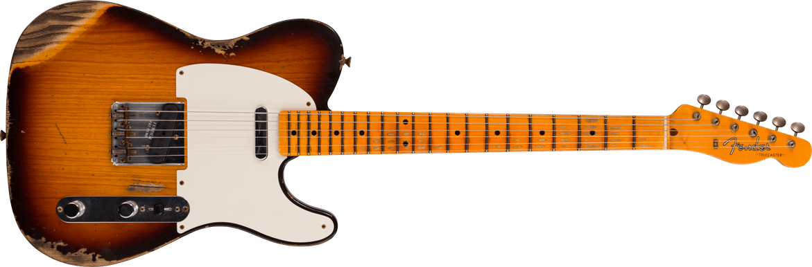 Limited Edition - 1958 Telecaster® - Heavy Relic®, Faded Aged Chocolate 3-color Sunburst