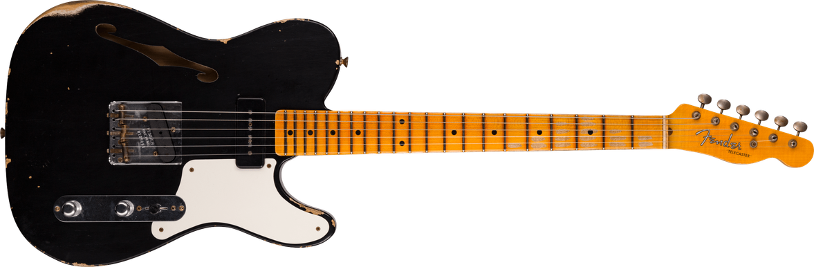 Limited Edition - P90 Telecaster® Thinline - Relic®, Aged Black