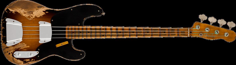 1951 Precision Bass® Super Heavy Relic®, 1-Piece Quartersawn Neck, Maple Fingerboard, Super Faded Aged 2-Color Sunburst