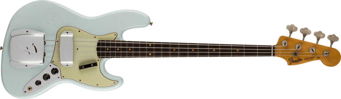 1964 Jazz Bass® Journeyman Relic®, AAA Rosewood Fingerboard, Super Faded Aged Sonic Blue