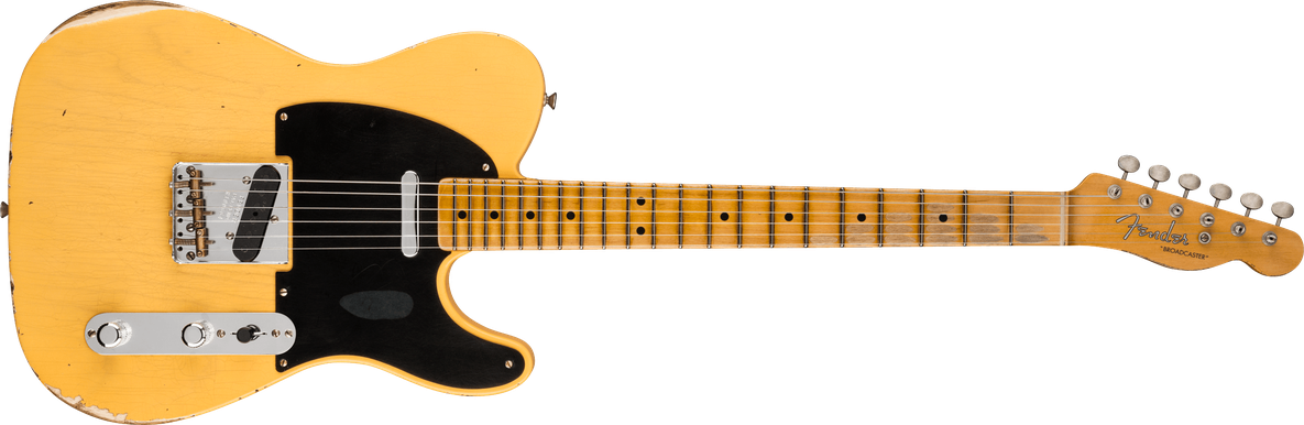 Limited Edition - Limited Edition 70th Anniversary Broadcaster® Relic®, Maple Fingerboard,  Aged Nocaster® Blonde