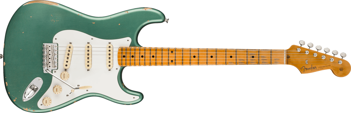 1956 Stratocaster® Relic®, Maple Fingerboard, Aged Sherwood Green Metallic
