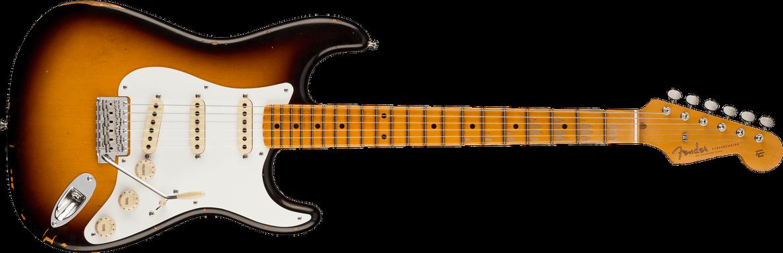 1956 Stratocaster® Relic®, Maple Fingerboard, Faded Aged 2-Color Sunburst
