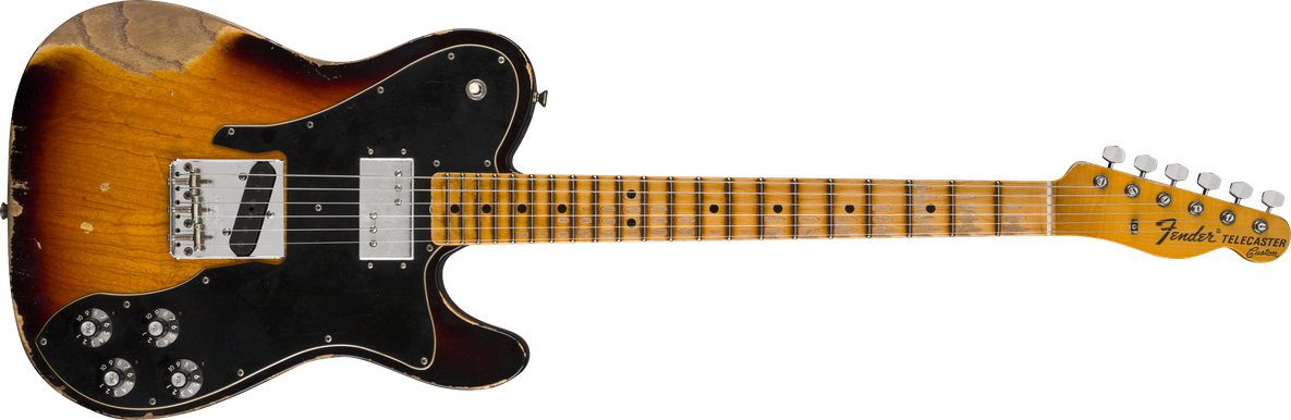Limited Edition - Limited Edition 70's Telecaster® Custom Heavy Relic®, Maple Fingerboard, Faded Aged 3-Color Sunburst