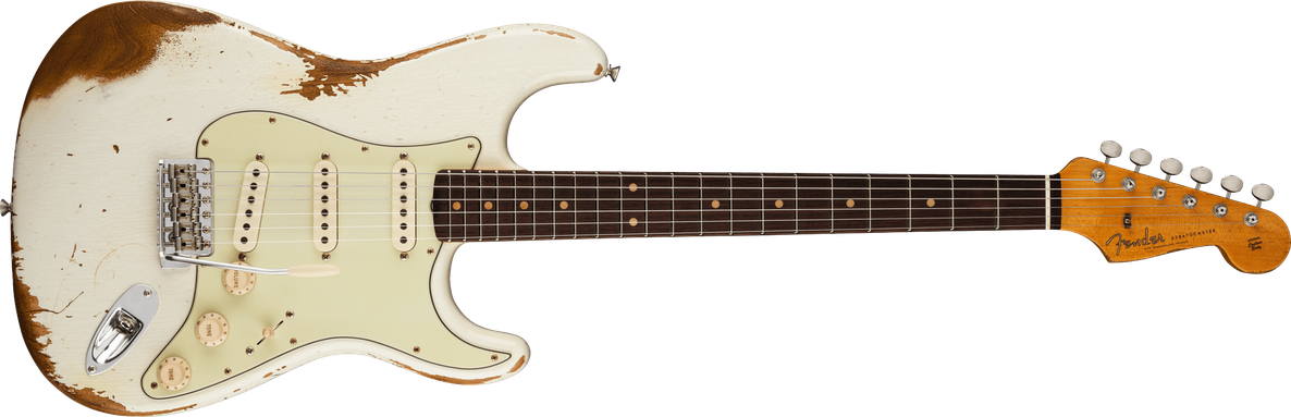 1960 Stratocaster® Heavy Relic®, Rosewood Fingerboard, Aged Olympic White