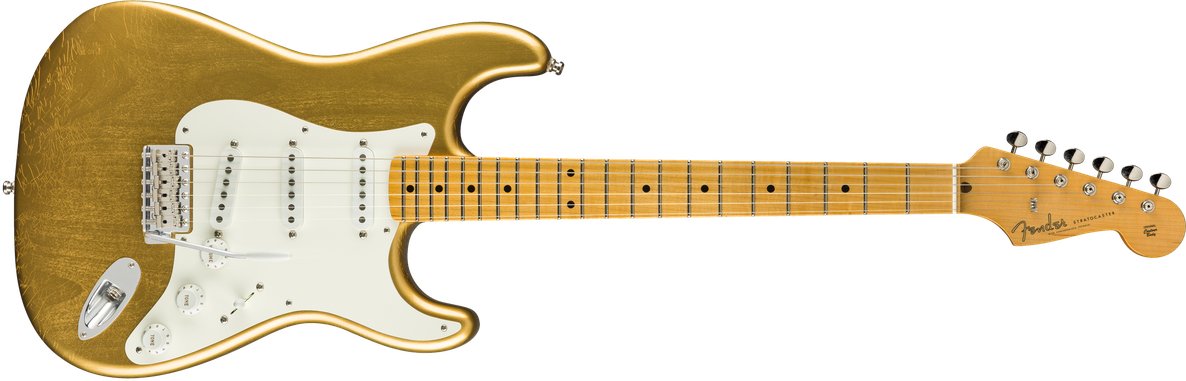 Jimmie Vaughan Stratocaster®, Maple Fingerboard, Aged Aztec Gold