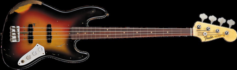 Jaco Pastorius Tribute Jazz Bass®, Rosewood Fingerboard, 3-Color Sunburst