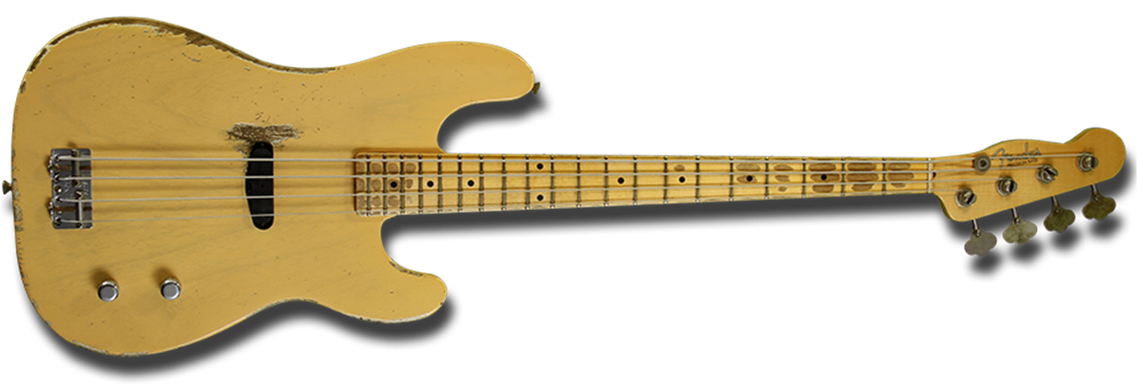 Dusty Hill Signature Precision Bass®, Maple Fingerboard, Nocaster® Blonde