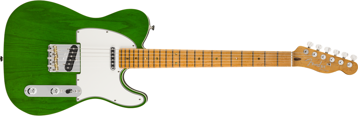 American Custom Telecaster®, Maple Fingerboard, Emerald Green Transparent, NOS