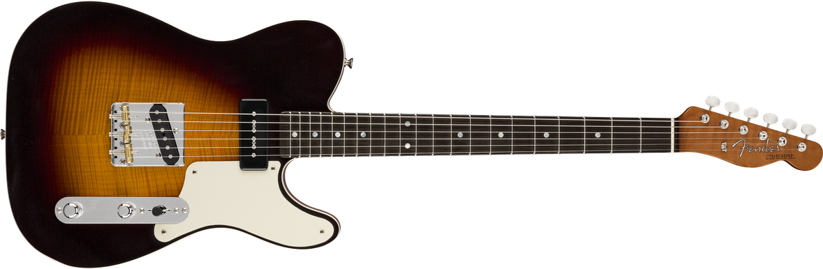 Artisan P90 Telecaster®, Fiji Mahogany Body with AAA Flame Maple Top, Ebony Fingerboard, Aged Antique Burst