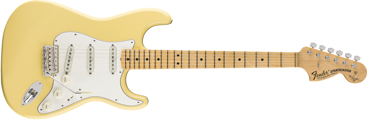 Yngwie Malmsteen Signature Stratocaster®, Scalloped Maple Fingerboard, Vintage White