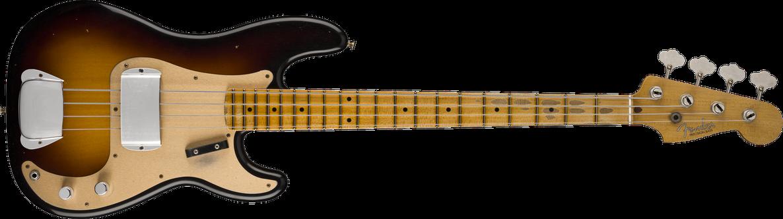 1957 Precision Bass® Journeyman Relic®, Maple Fingerboard, Wide-Fade 2-Color Sunburst