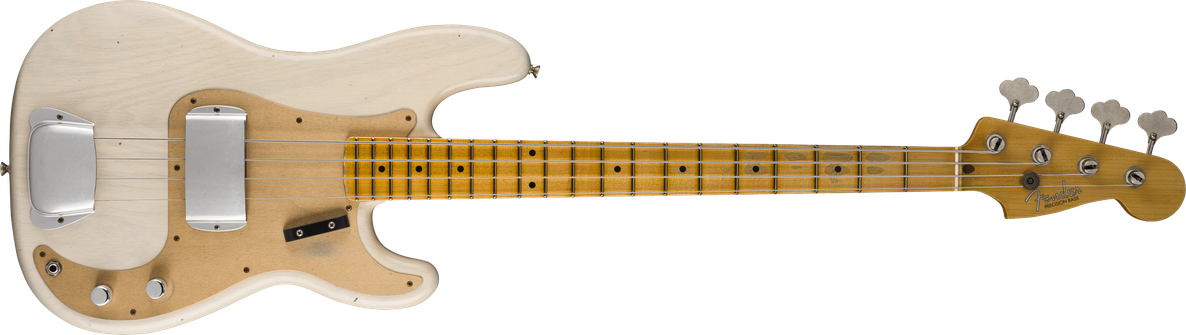 1957 Precision Bass® Journeyman Relic®, Maple Fingerboard, Aged White Blonde