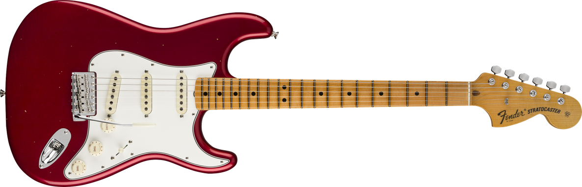 1970 Stratocaster® Journeyman Relic®, Maple Fingerboard, Aged Firemist Red