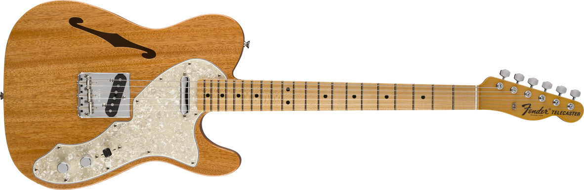Vintage Custom 1968 Telecaster® Thinline, Round-Laminated Maple Fingerboard, Aged Natural