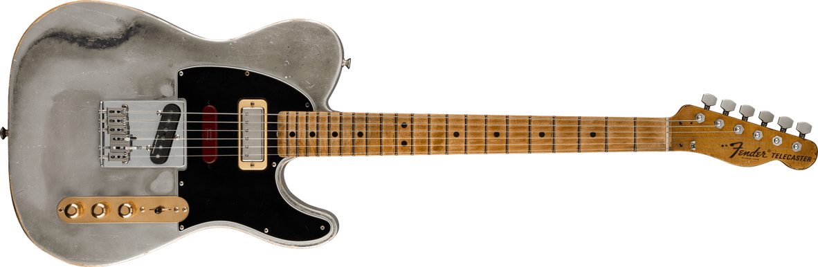 Limited Edition - Limited Edition Brent Mason Signature Telecaster® Heavy Relic®, AAAA Flame Maple Fingerboard, Flat Silver Satin