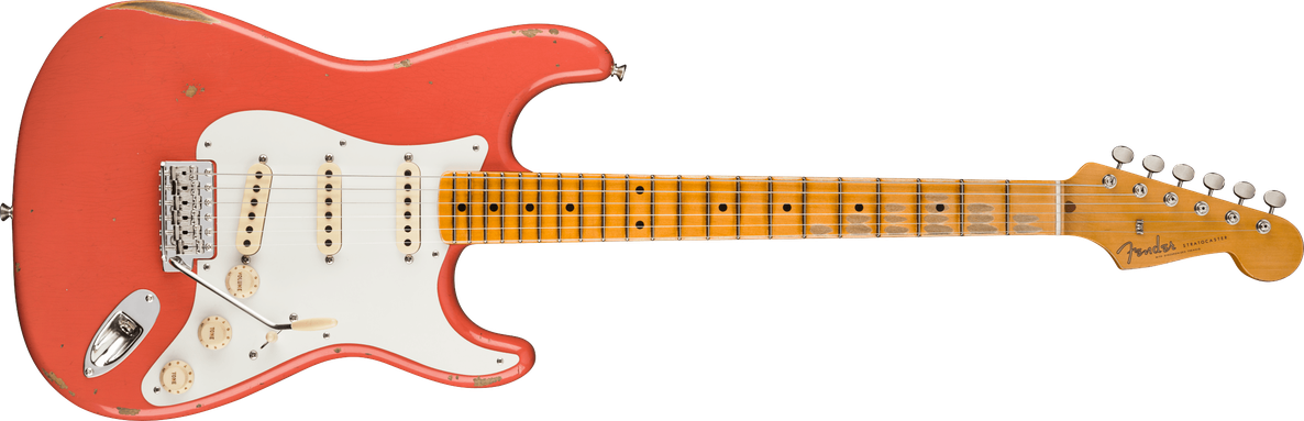 1956 Stratocaster® Relic®, Maple Fingerboard, Faded Aged Tahitian Coral