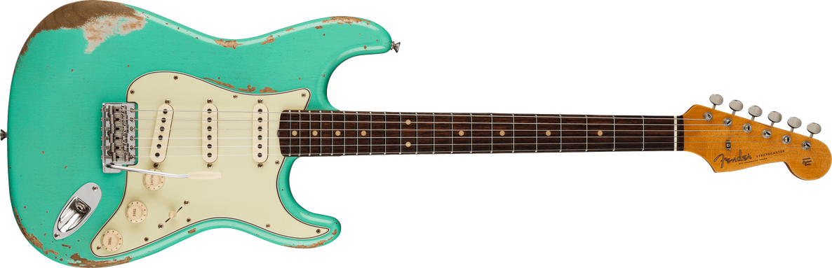 1960 Stratocaster® Heavy Relic®, Rosewood Fingerboard, Faded Aged Foam Green