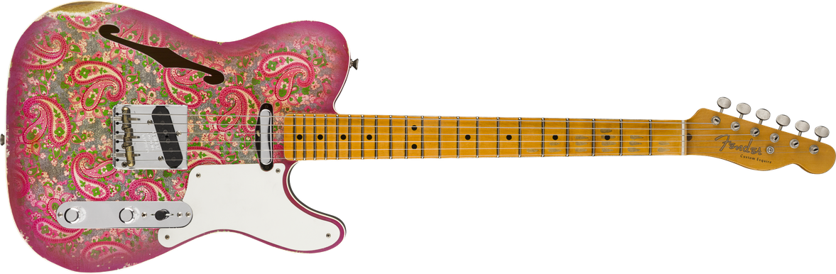 Limited Edition - Limited Edition Double Esquire® Custom Relic®, Maple Fingerboard, Aged Pink Paisley