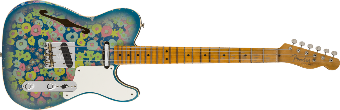 Limited Edition - Limited Edition Double Esquire® Custom Relic®, Maple Fingerboard, Aged Blue Flower