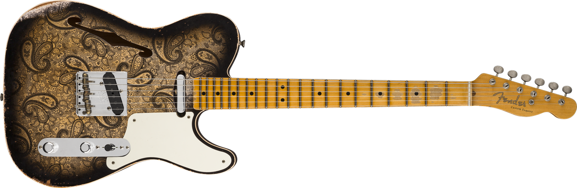 Limited Edition - Limited Edition Double Esquire® Custom Relic®, Maple Fingerboard, Aged Black Paisley