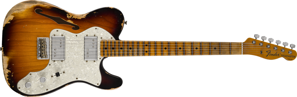 Limited Edition - Limited Edition '72 Telecaster Thinline Heavy Relic®, Maple Fingerboard, Faded Aged 3-Color Sunburst