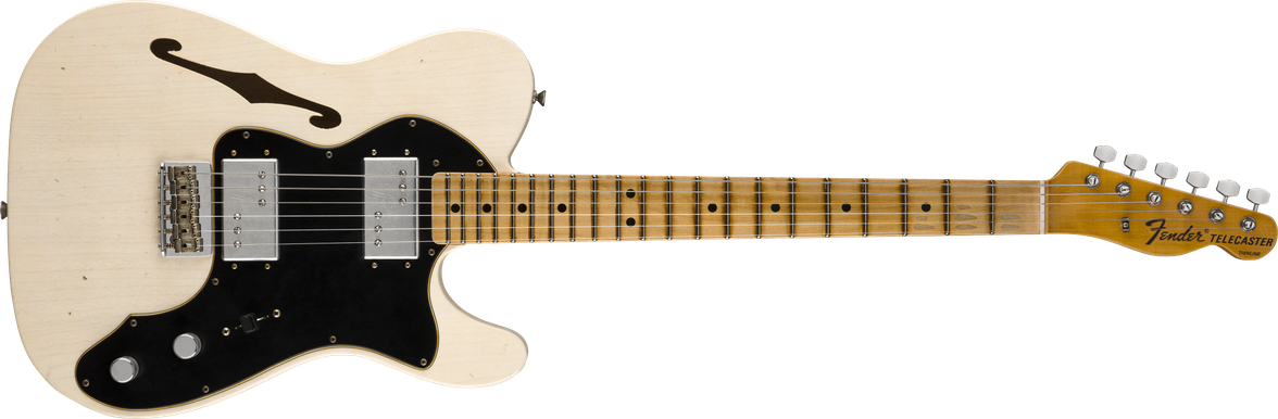 Limited Edition - Limited Edition '72 Telecaster Thinline Journeyman Relic®, Maple Fingerboard, Aged White Blonde