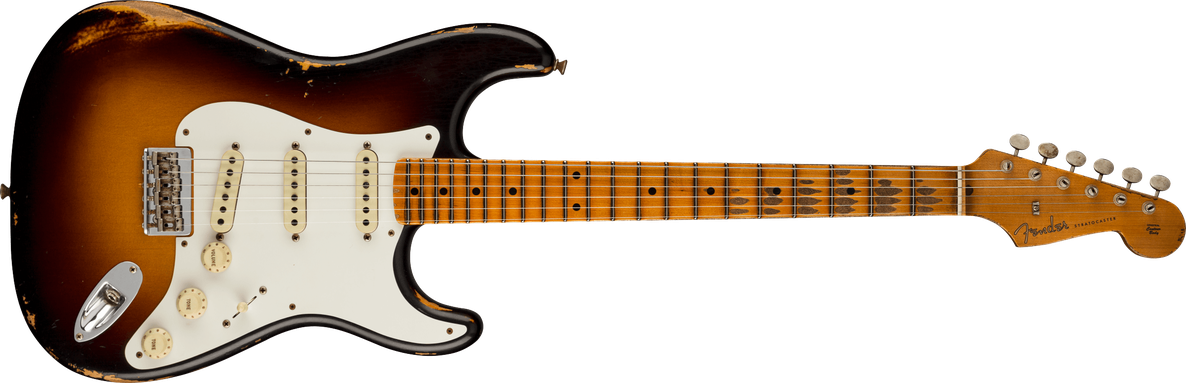 Limited Edition - Limited Edition Troposphere™ Strat® Hard-Tail Heavy Relic®, Maple Fingerboard, Super Faded Aged 2-Color Sunburst