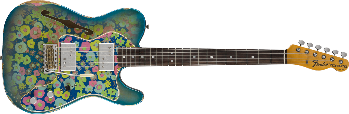 Limited Edition - Limited Edition '72 Telecaster® Thinline, Rosewood Fingerboard, Aged Blue Flower, Relic®