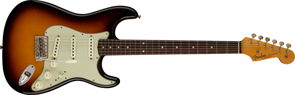 Limited Edition - Limited Edition '62/'63 Stratocaster® Journeyman Relic®, Rosewood Fingerboard, Faded Aged 3-Color Sunburst