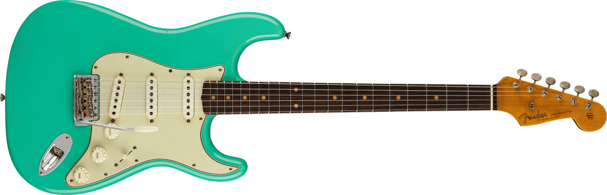 Limited Edition - Limited Edition '62/'63 Stratocaster® Journeyman Relic®, Rosewood Fingerboard, Aged Seafoam Green