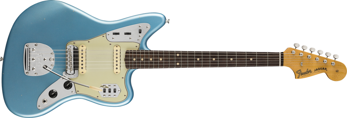 1962 Jaguar® Journeyman Relic®, Rosewood Fingerboard, Faded Aged Lake Placid Blue