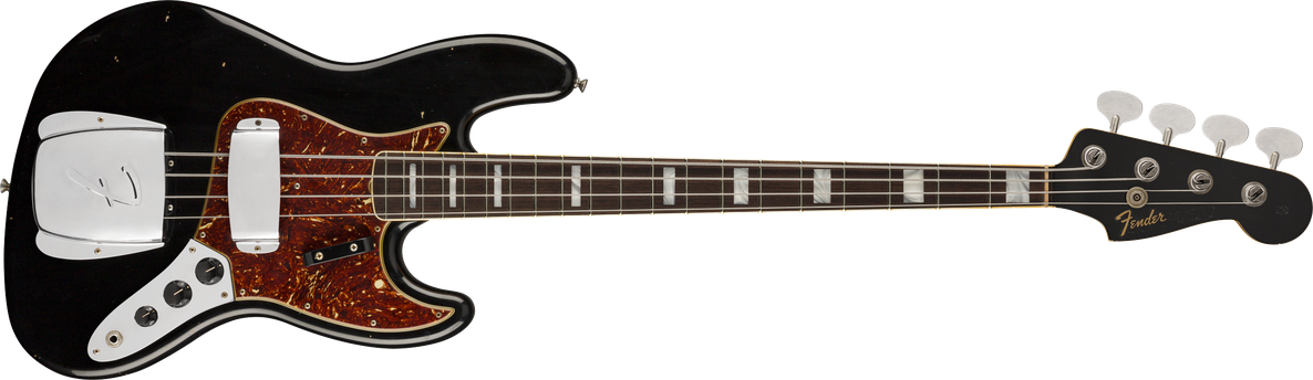 1966 Jazz Bass® Journeyman Relic®, Round-Laminated Rosewood Fingerboard, Aged Black