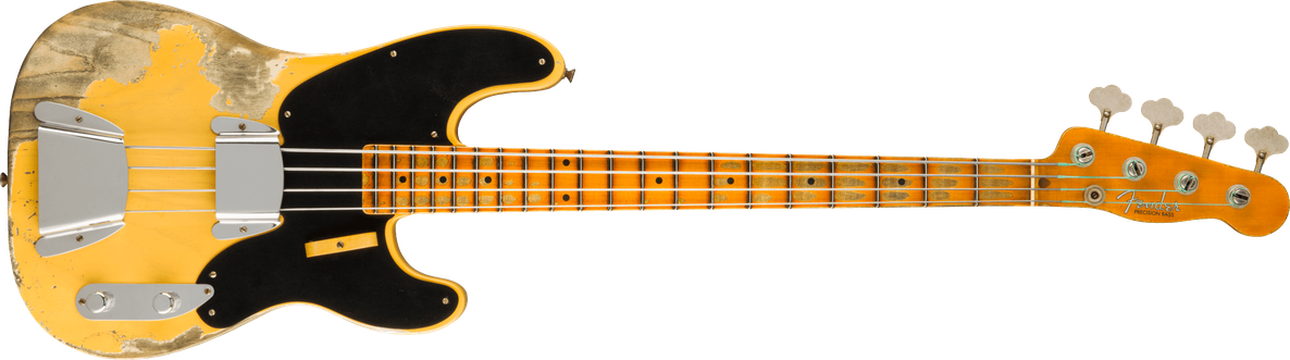 Limited Edition - Limited Edition 1951 Precision Bass® Super Heavy Relic®, Maple Fingerboard, Aged Nocaster® Blonde